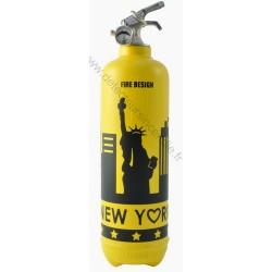 Extincteur jaune NEW-YORK