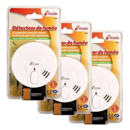 Pack 3 Détecteurs de fumée KIDDE 29-FR