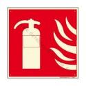 Panneau indicateur d extincteur en PVC dimensions: 12 x 12 cm